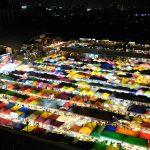 【タイ・バンコク18】まるで輝く宝石のよう!夜景がキレイなナイトマーケット(2017年11月)
