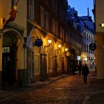 【ラトビア・リガ/ 女一人旅】夜の旧市街を散策(2018年2月)