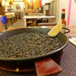 【スペイン・マドリード(女一人旅)】イカスミ初挑戦!真っ黒なパエリア、そのお味はいかに…(2019年2月)